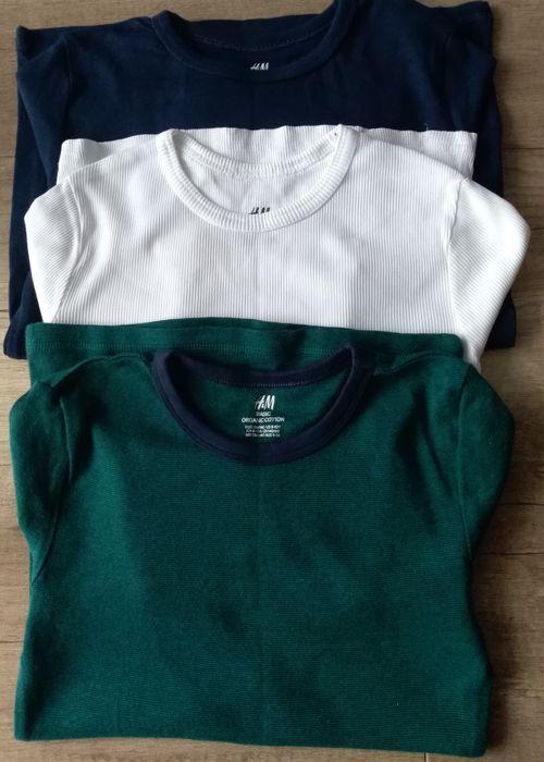 Tiszerty H&M, rozmiar 134. Łosice - image 1