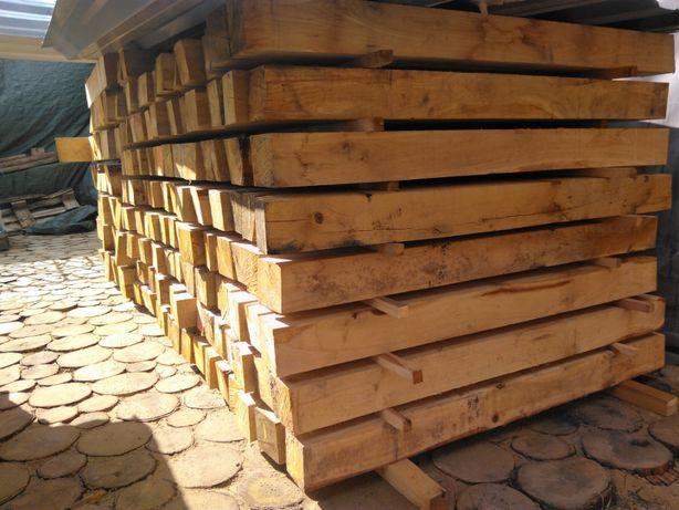 Palisada ogrodowa dębowa 10x10 kantówka dębowa