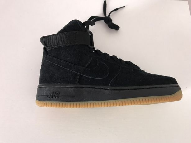 Кроссовки,ботинки шкіра высокие кожаные деми Nike air forse.Оригинал
