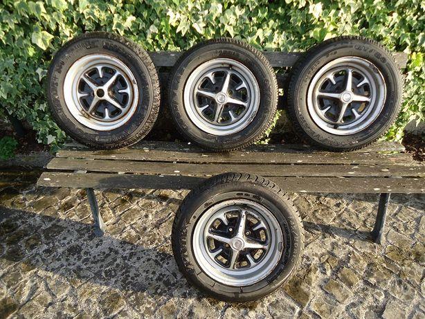 Conjunto de 4 rodas completas para MG Midget.