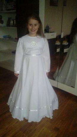 Sukienka komunijna komunia bolerko wianek torebka