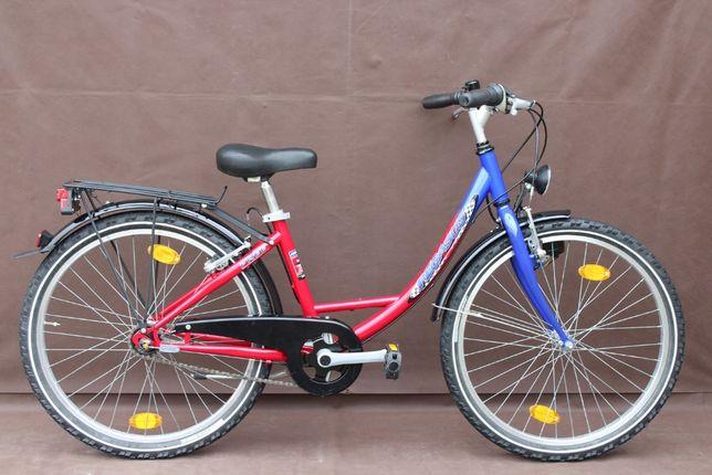 "Piękny Rower Junior ""PEGASUS"" Koła 24'' 3 Biegi w Piaście"