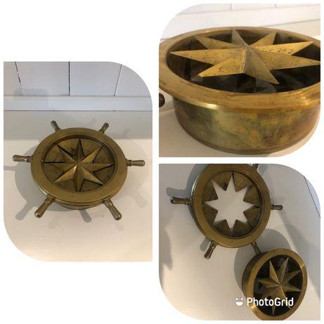 Kompas wodny, jachtowy, stary z mosiadzu