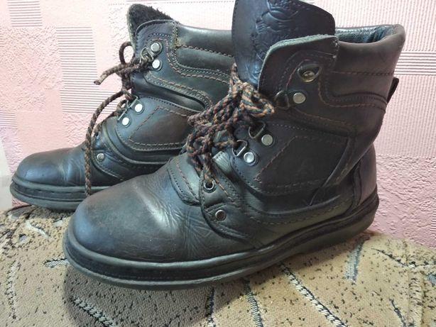 Ботинки зима ( кожа)