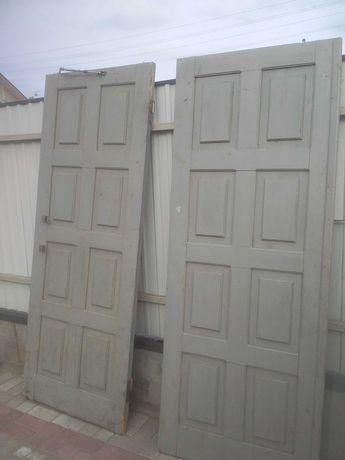 Двери входные деревянные филенчатые сосновые