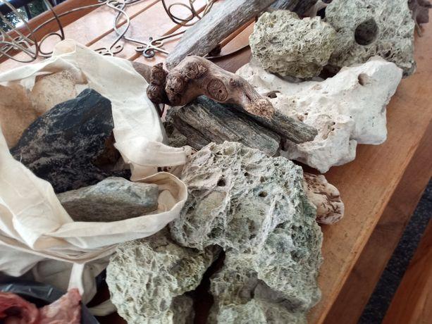 Skala wulkaniczna wapienna ozdoby kamienie