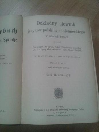 Dokładny słownik języków polskiego i niemieckiego T.2 wyd. 1913