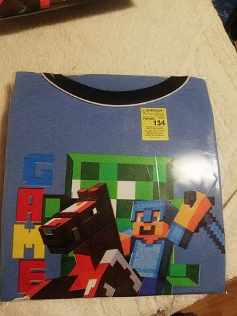 Piżama Minecraft r 134 długi rękaw