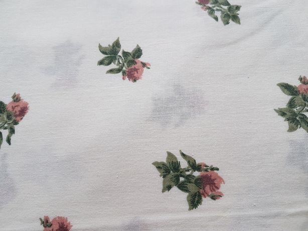 Prześcieradło/materiał w kwiatki 154 x 232