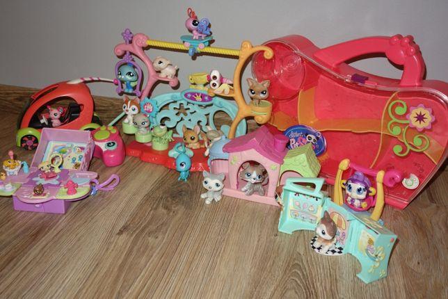 Pet Shop figurki + zdalnie sterowany samochodzik + plac zabaw + domek