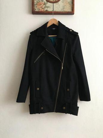 Шерстяная куртка косуха пальто демисезонное Asos