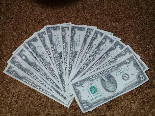 лот 2 купюри 2 доллара 2 долари 2 USD 2 $