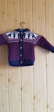 Sweter ocieplany świąteczny  George Rozmiar : 12-18 mc