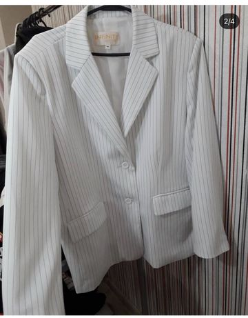 Пиджак жакет белый оверсайз