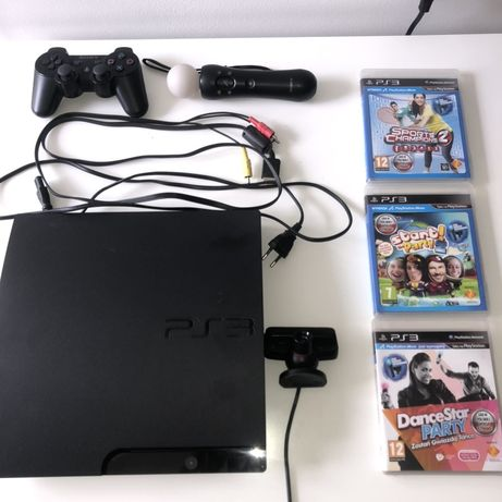 Play Station 3 PS3 + ps move + 3 gry + kontroler