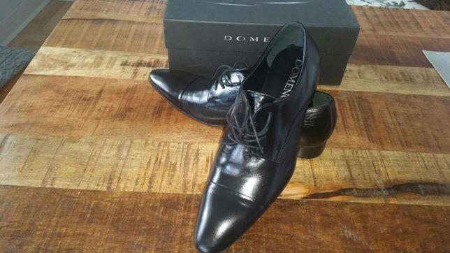 Buty męskie DOMENO wizytowe skóra naturalna 45 46 ślubne