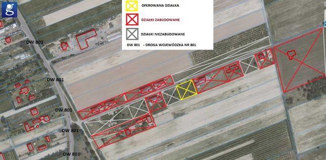 Działka budowlana WZ 1200m2(gaz, prąd, sieć wodociągowa 30km do wawy)
