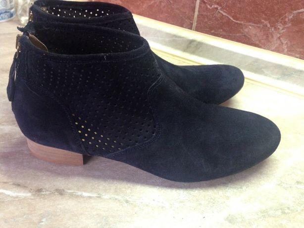 Продам демисезонные ботинки кожа(замш),37 размер