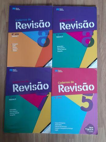 Livros de revisão 5° e 8° ano