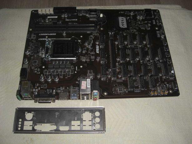 Плата для майнинга на 18 видеокарт MSI B360-F PRO 17 PCI-Ex1 s1151v2