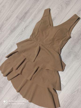 Beżowa sukienka jak nowa