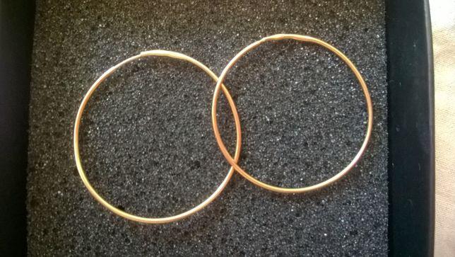 Kolczyki złote okrągłe duże złoto rosyjskie ZSRR