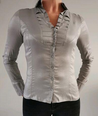 Srebrna koszula S