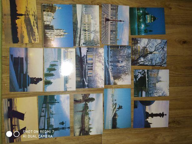Комплект открыток 28шт The sights of Leningrad