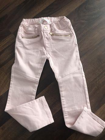 Nowe jeansy zamki r.98 h&m treginsy różowe