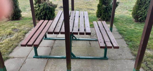Komplet ogrodowy stól, ławki