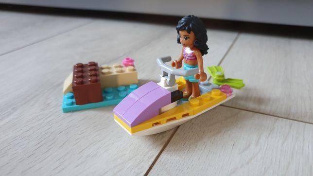 Klocki LEGO friends, skuter wodny, łódź motorowa 41000