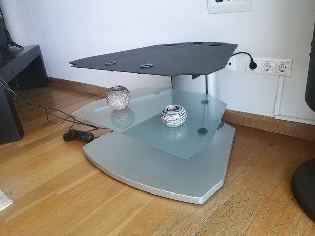 Mesa de televisão com prateleira