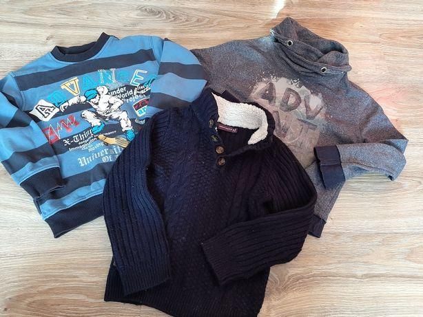 Bluza sweter 3 szt chłopiec 110cm 4/5 lat z UK Rebel