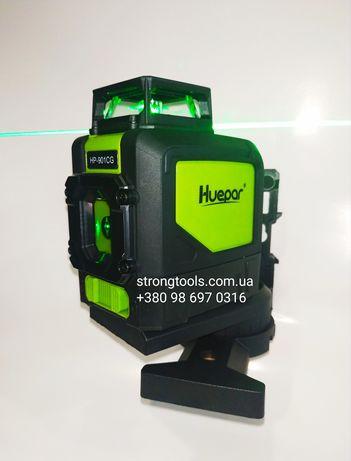 Лазерный уровень нивелир 360 5 линий Huepar 901CG Зеленый луч + Магнит