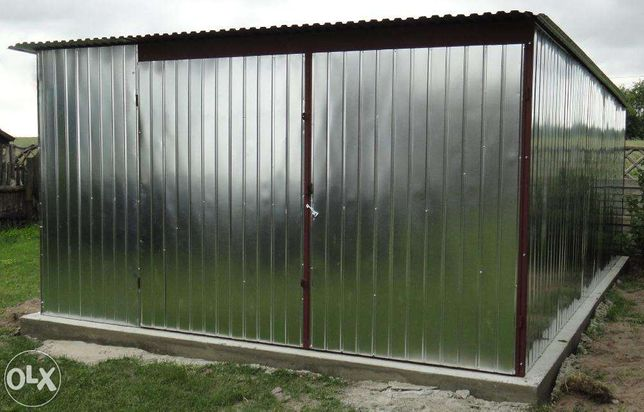 Garaże Garaż blaszany 4x5 z dostawą i montażem Łódź całe woj. łódzkie
