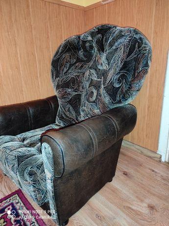 Fotele tapicerowane wysokie, głębokie