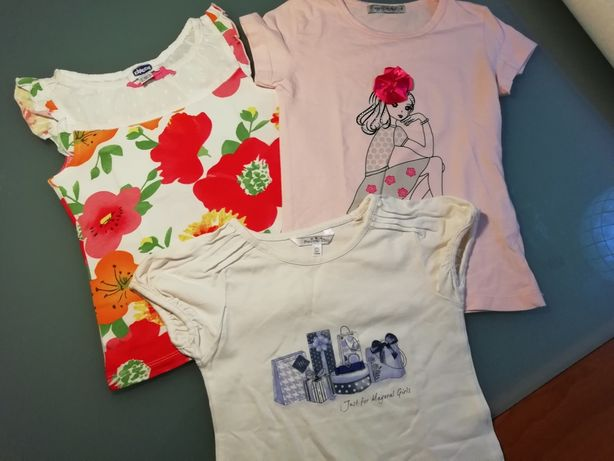 3 Tshirt menina chicco Gentemiuda COMO NOVAS!