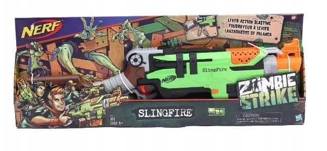 Hasbro Nerf Zombie Slingfire A6563 Zielonka - image 1