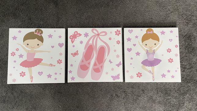 Obrazki do pokoju dziewczynki baletki