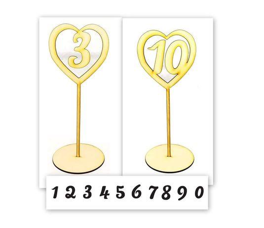 Numery na stół weselny TOPPER napis cyfry