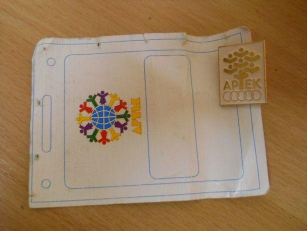 Значок Артек с оригинальным бумажным артековским бланком