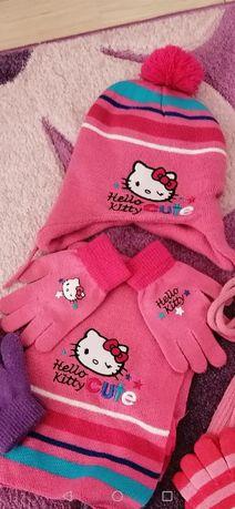Komplet czapka szalik i rękawiczki Hello Kitty 3-6 lat