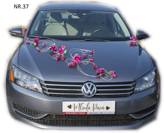 Dekoracja samochodu ozdoba na auto do ślubu NR.37 DOWOLNY KOLOR