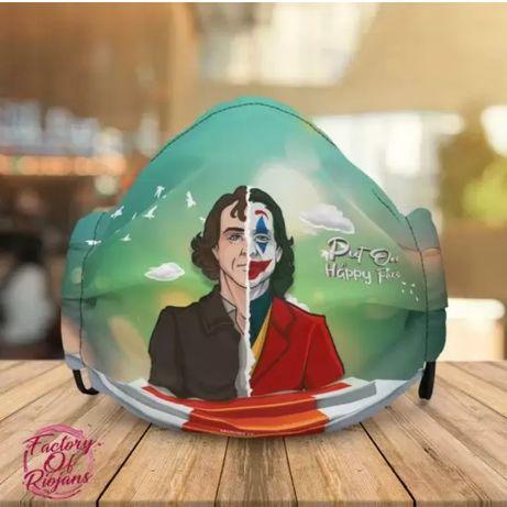 Mascaras certificadas Joker Joaquin Phoenix desenho exclusivo