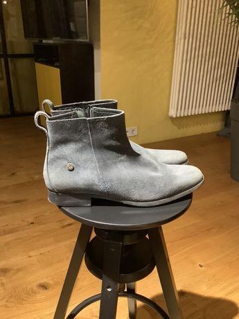 Ботинки кожаные Hilfiger 44 размер цвет серый