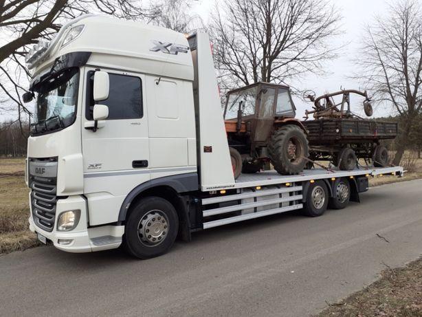 Transport maszyn rolniczych i budowlanych Auto-Laweta Pomoc Drogowa