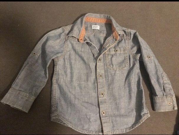Фирменная Джинсовая рубашка 18-24 F&F синяя. из Америки.