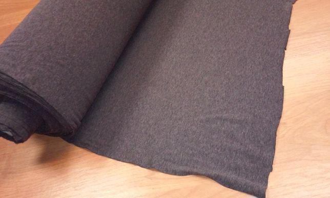 Dzianina materiał tekstylny ciemny melanż włoska przędza z elastanem