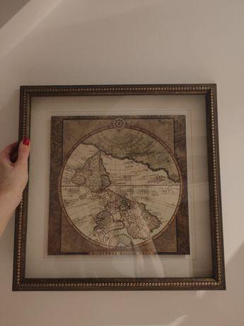 Obraz mapa świat kolonialny