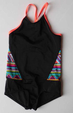 Strój kostium kąpielowy OLAIAN 110 116 dziewczynka czarny jednoczęscio